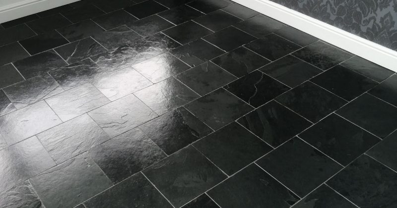 Slate floor deep cleaned sealed in Woking surrey